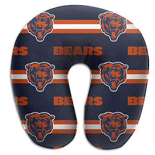 Sorcerer Custom Colorful Neck Pillow Chicago Bears American Football Team Rest for Airplanes Travel Pillow Comfort and Convenience Sleeping Neck Pain U-Shaped ()