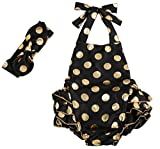 Messy Code Baby Romper Gold Dot Newborn Bubble Girls Jumpsuit