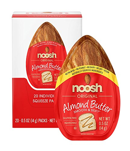 NOOSH Almond Butter (20 Count) - All Naturally Sourced, Vegan, Gluten Free, Non GMO, Kosher, No Soy, No Dairy, No Peanuts. No Palm Oil ()