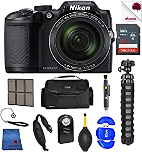 Nikon COOLPIX B500 Digital Camera Black (26506) USA - Full Accessory Basic Bundle Package Deal
