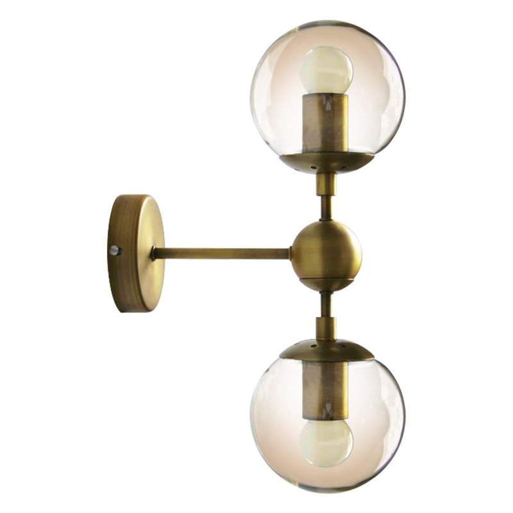レンズライト ミラーフロントライト - ウォールランプシンプルな北欧クリエイティブベッドサイドスタディミラーフロントライトレトロ錬鉄製ガラスボールウォールランプ バスルームライト B07RR99GVR