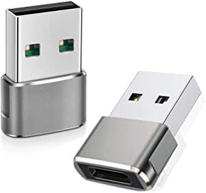 USB C to USB Adapter (2 Pack), QCEs USB-C Female to USB Male, USB Type C to USB OTG Adapter Compatible with MacBook Pro/Air 2015 Laptops, iPhone 12 11 Pro Max,Airpods iPad 2020,Samsung Galaxy S20
