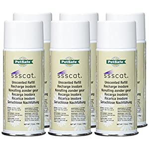 PetSafe SSSCat Deterrent Unscented Refill Spray Pack of 6 Total of 23.34oz 18