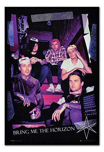 - Bring Me The Horizon Red Eye Poster Cork Pin Memo Board Black Framed - 96.5 x 66 cms (Approx 38 x 26 inches)