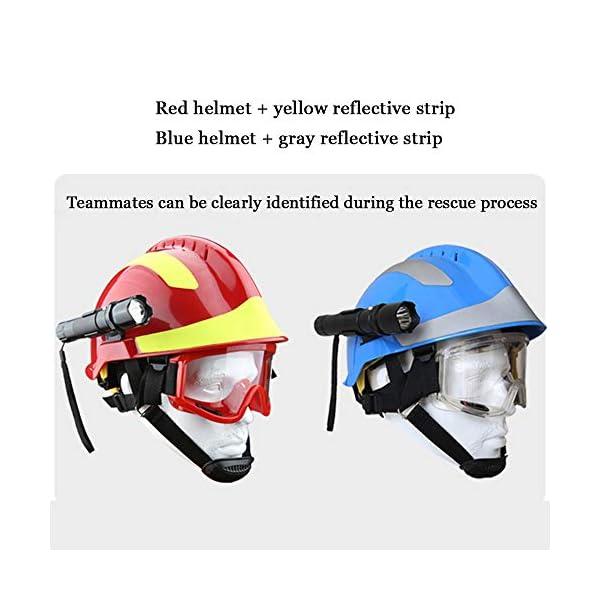 Casco de Rescate al Aire Libre, Kit de protección de Emergencia de Casco de Rescate de terremoto con Gafas y Linterna de deslumbramiento Fyxd 5