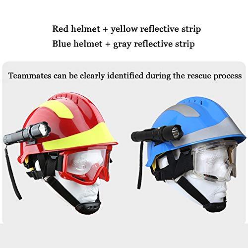 Casco de Rescate al Aire Libre, Kit de protección de Emergencia de Casco de Rescate de terremoto con Gafas y Linterna de deslumbramiento Fyxd 9