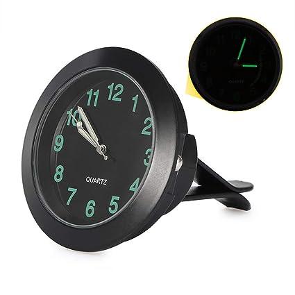 Abedoe Car Air Vent Quartz Clock, High Accuracy Auto Interior Watch Luminous Stick-On