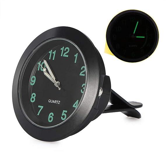 Amazon.com: Abedoe Car Air Vent Quartz Clock, High Accuracy Auto Interior Watch Luminous Stick-On Clock with Clip, Night Display, 1.7