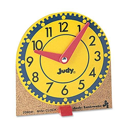 (Carson-Dellosa 0768223202 Learning Clocks Set Mini Moveable Hands Wood Base 12/ST)