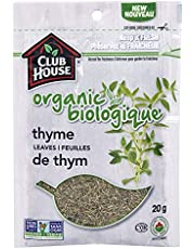 Club House, Quality Natural Herbs & Spices, Organic Thyme Leaves, 20g