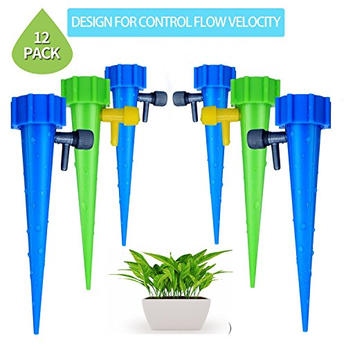 As Waterer Tv On Seen (leeken Plant Self Watering devices with Slow Release Control valve switch, Automatic Vacation Plant Watering spikes globes, Self Irrigation Watering drip bulbs System,watering stakes)
