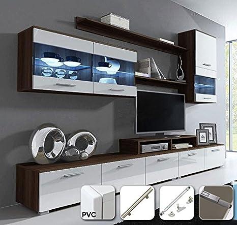 muebles bonitos - Mueble de salón Claudia Mod.10 Puertas PVC ...