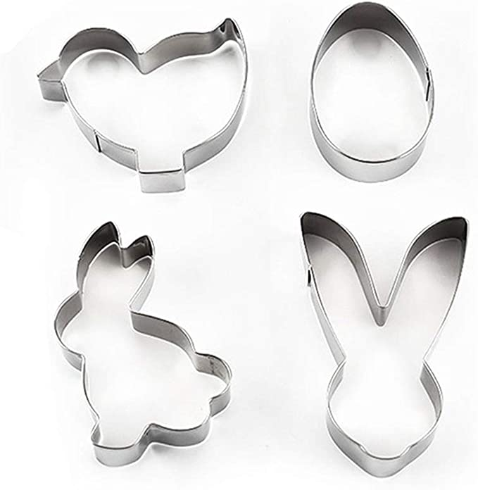 Cookie Cutters Easter Spring Rabbit Duck Chick Bunny Egg Rooster Wedding Metal