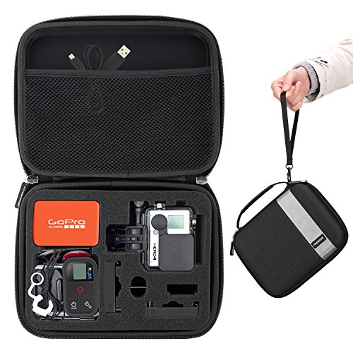 GoPro Case, MoKo Camera Case Protective Bag Hard Carrying Case Shockproof Travel Storage with Handle and Carabiner for GoPro Hero 6 5 4, Black by MoKo
