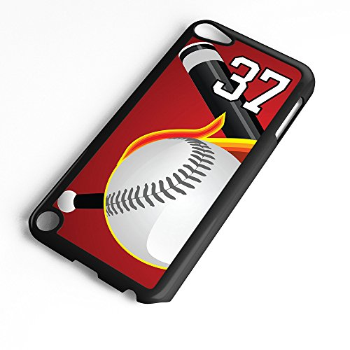 iPod Touch Case Fits 6th Generation or 5th Generation Baseball #5100 Choose Any Player Jersey Number 37 in Black Plastic Customizable by TYD Designs