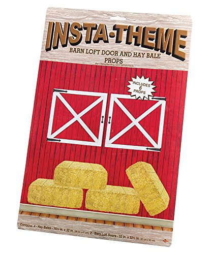 Barn Loft Door & Hay Bale Props Party Accessory (1 count) (6/Pkg) - Hoedown Halloween Costumes