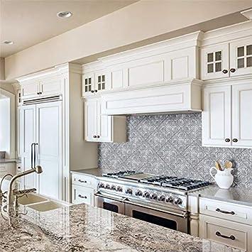 Amazon Com 7 875x7 875 Inch Decor Ceramic Wall Tile 25 Tiles 11 29 Sqft Blue Grey Square Glossy Matte Home Kitchen