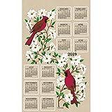 Dogwood and Cardinal Towel Calendar, Kitchen Towel by Kay Dee Designs