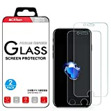 """iPhone 8 7 6S 6 Screen Protector Tempered Glass, Crystal Clear, 9H Hardness, 3D Touch Compatible, ACEIken Glass Screen Protector for Apple iPhone 8, iPhone 7, iPhone 6S, iPhone 6 4.7""""(2-Pack)"""