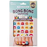 Bong Bong Non-Toxic Nail Art Sticker Decal For Kids 7+ Yrs – Colorful, Trendy, Glitter - Long Lasting (30 Stickers) (Crayon)