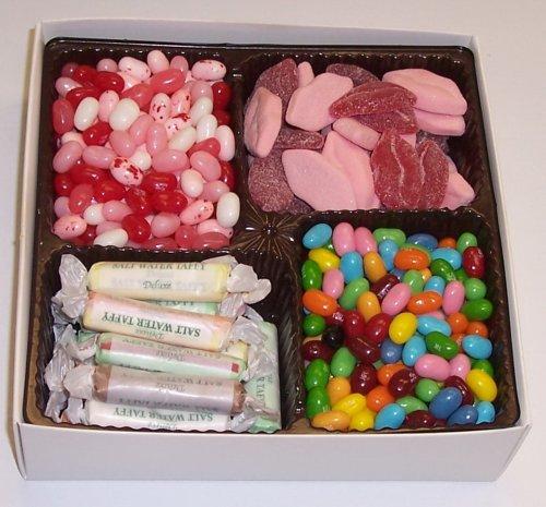 Scott's Cakes Large 4-Pack Smoochie Lips, Valentine Beans, Conversation Beans, & Salt Water Taffy