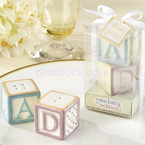 r Shakers Canister Set Cube Blocks Wedding Party Favors ()