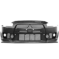 Front Bumper Conversion Compatible With 2008-2015 MITSUBISHI LANCER | FQ Style PP Black Bumper Cover Conversion Bodykit by IKON MOTORSPORTS | 2009 2010 2011 2012 2013 2014