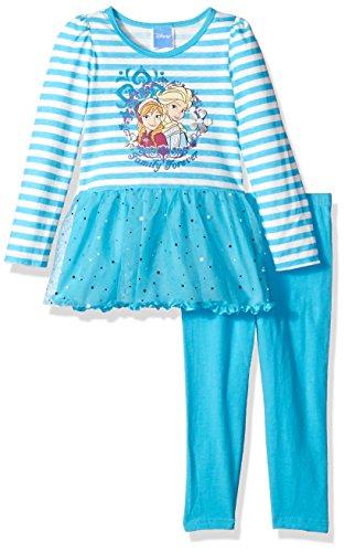 Disney Girls Two-Piece Anna and Elsa Dress Set