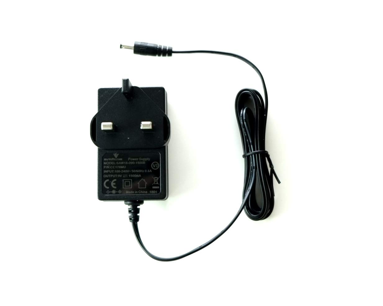 UK plug Premium MyVolts 9V power supply adaptor compatible with Casio CTK-3200 Keyboard