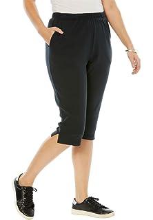 6eb5ac8889ad Amazon.com  Champion Women s Plus-Size Jersey Capri  Clothing
