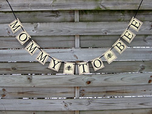Mommy To Bee Banner - Bee Themed Baby Shower Decoration