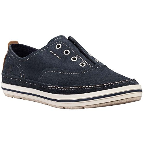 Timberland C8843R Earthkeepers Casco Bay Laceless Slip-On Sneakers, Navy Suede, 10.0