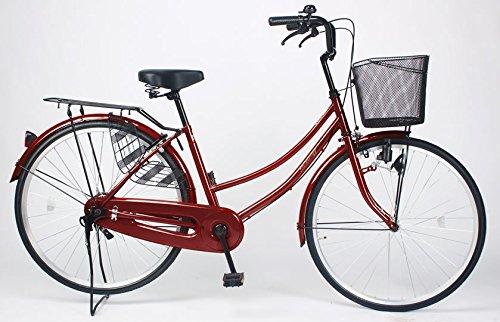 21Technology 【MC260-N】ママチャリ 自転車 26インチ B01N19X9HB ワインレッド ワインレッド
