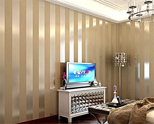 (AdorabPaper Simple Modern Vertical Stripes Wallpaper Bedroom Living Room Study Yellow,53X1000CM(20.8in X 393.7in))
