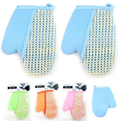 Lot of 2 Sisal Bath Glove Spa Sponge Loofah Loofa Brush Exfoliating Massager