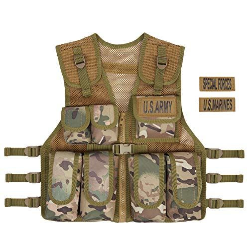 Kids Army Multi Terrain Camouflage Assault Vest