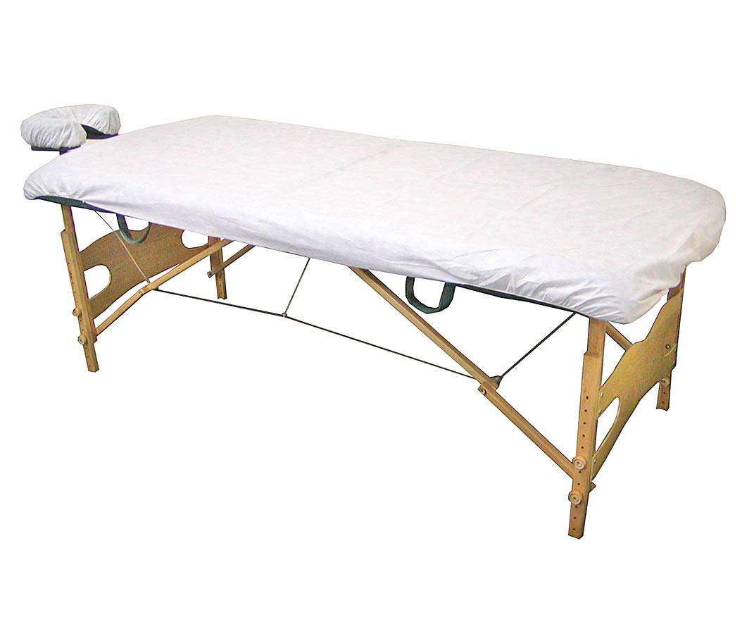 Lifesoft Disposable Fitted Massage Table Sheet Heavy Duty Facial Bed Cover 35'' x 88'', 10 Count by LIFESOFT