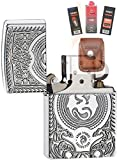 Zippo 28962 Anne Stokes Dragon Lighter + Fuel Flint Wick Pouch Gift Set