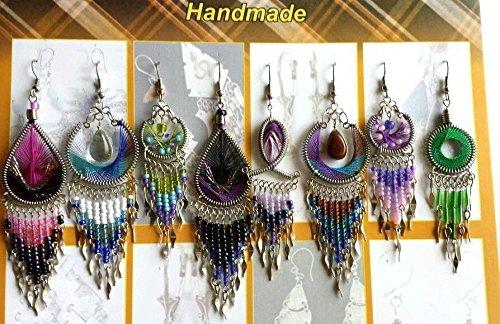 10 Pairs Wholesale Handmade Thread Dangle Earrings Wholesale