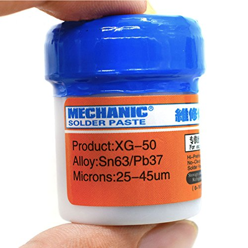 VK Mechanic Soldering Tin Cream Solder Flux Paste Welding Fluxes Sn63/Pb37 for PCB BGA SMD Phone PC