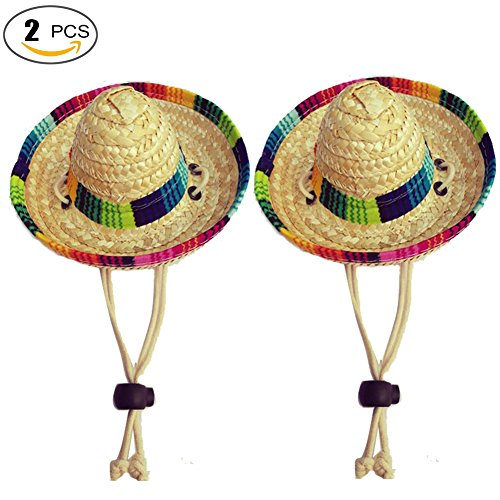 Dogs Sombrero Hat Dogs Sun Hat Party Hats for Dogs Mexican Style Hat for Dogs and Cats Funny Dog (Extra Large Christmas Dog Costumes)