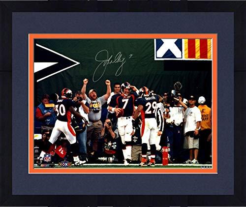 (Framed John Elway Denver Broncos Signed Super Bowl Mile High Salute 16x20 Photograph - Steiner Sports Certified)