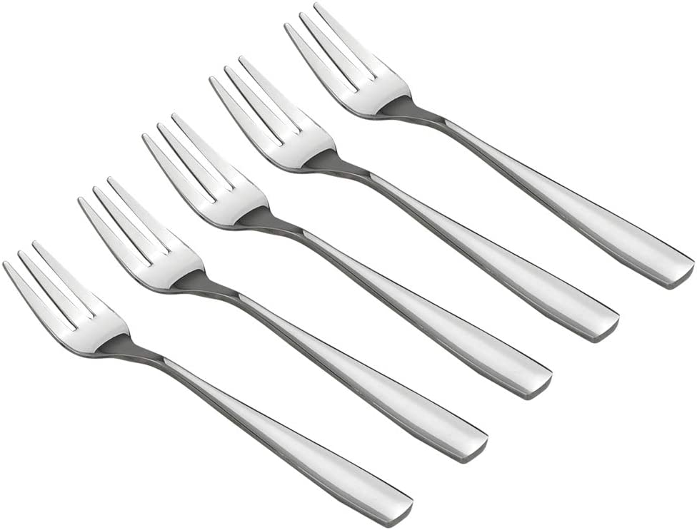 Cake Fruit Fork Set HOMMP 16 Pieces Stainless Steel 3-tine Dessert Fork