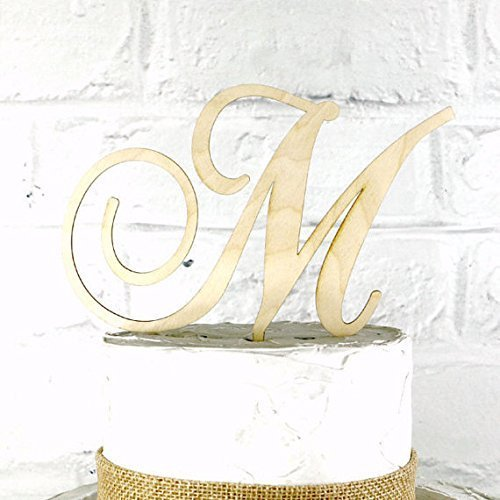 5-inch-rustic-wedding-cake-topper-monogram-personalized-in-any-letter-a-b-c-d-e-f-g-h-i-j-k-l-m-n-o-
