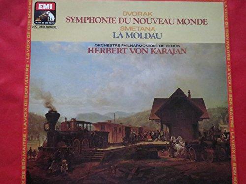 "Price comparison product image Dvorak ""New World"" Symphony,  Smetana Vltava - Antonin Dvorak / Bedrich Smetana - Herbert Von Karajan,  Berliner Philharmoniker LP"