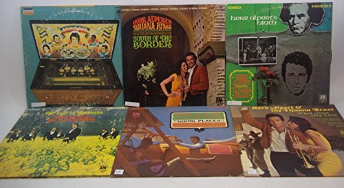 Herb Alpert Lot of 6 Vinyl Record Albums South of the Border and more