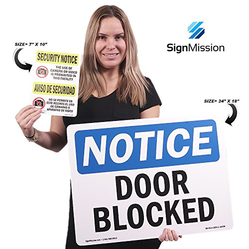 OSHA Notice Sign - Door Locked During Business Hours Ring Bell | Choose from: Aluminum, Rigid Plastic or Vinyl Label Decal | Protect Your Business, Work Site, Warehouse & Shop Area | Made in The USA by SignMission (Image #2)