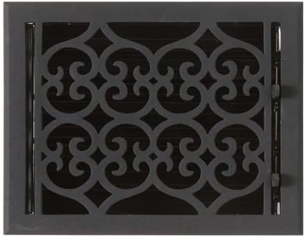"""Naiture 8"""" x 10"""" Oversized Smooth Cast Iron Floor Register Old Victorian Style"""