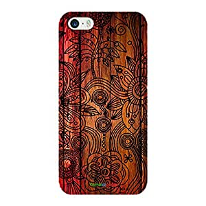HomeSoGood Amazing Floral Art Brown Case For iPhone 5 / 5S (Back Cover)