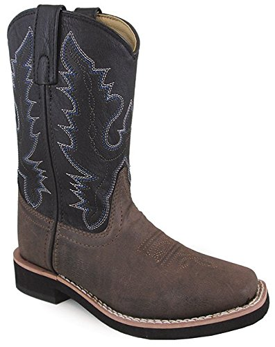 Picture of Smoky Mountain Boys Brown/Black Tyler Square Toe Western Cowboy Boots